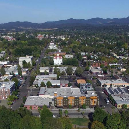 Aerial photo of Corvallis